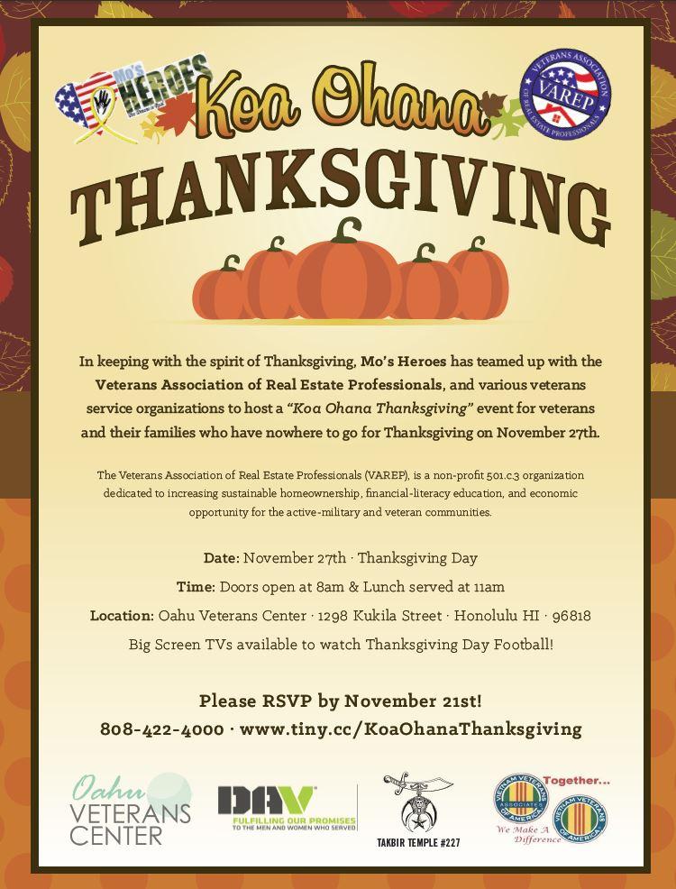 Koa Ohana Thanksgiving