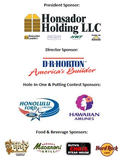 Mahalo to our sponsors
