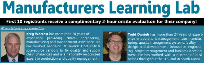 Manufacturers Learning Lab header